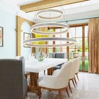 현대 led 펜 던 트 조명 luminaria 3 서클 반지 거실 다이닝 룸 led 빛 로프트 luces led decoracion 교수형 램프