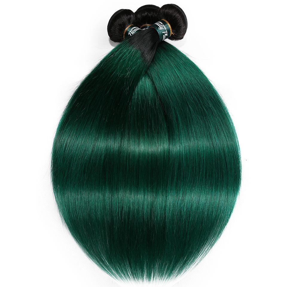 black pearl bundles ombre green human hair bundles  (1)