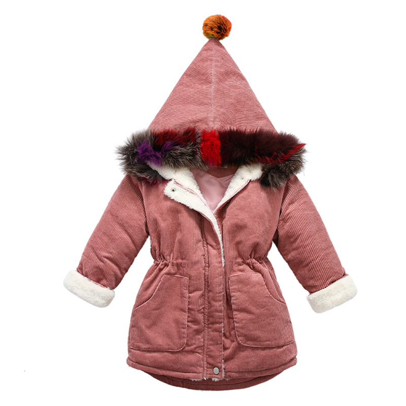 winter thick warm long coats age 4-14 yrs teenage girls Halloween hoodie outfit 2018 fashion autumn kid clothes long sleeve tops long sleeve bird printing zippered hoodie