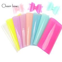Feuilles de tissu synthétique de pom-pom girls en vinyle Transparent PVC, décor de fête d'été, accessoires pour cheveux bricolage-même