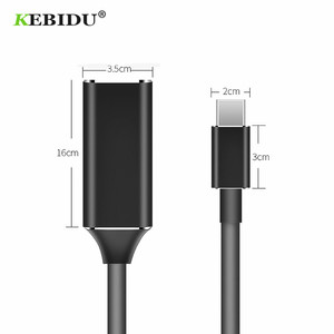 Image 3 - KEBIDU usb type c to hdmi cable adapter 4k 30hz USB 3.1 to HDMI Adapter Male to Female Converter for PC Computer TV Display Ph