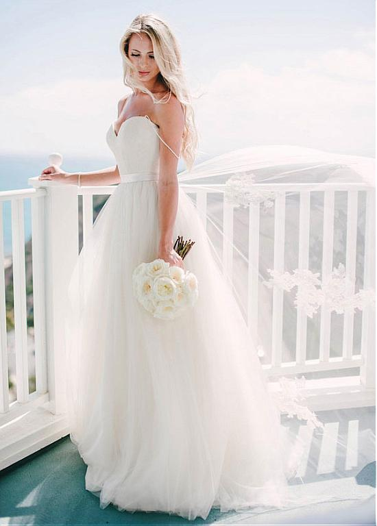 Beach Vestido De Noiva 2019 Wedding Dresses A-line Spaghetti Straps Tulle Backless Lace Boho Dubai Arabic Wedding Gown Bridal