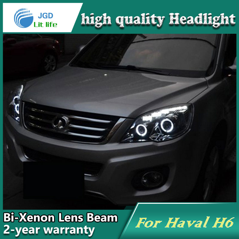 high quality Car styling case for Great Wall haval H6 Headlights LED Headlight DRL Lens Double Beam HID Xenon Car Accessories
