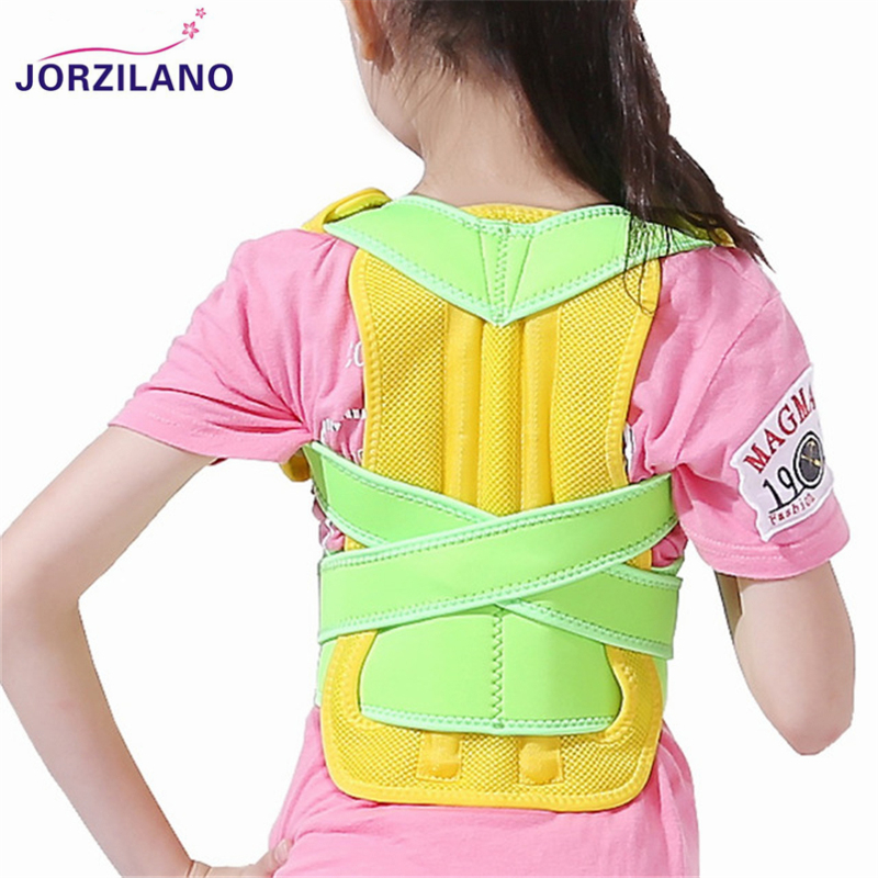 JORZILANO Children Corset Back Posture Corrector Back Shoulder Lumbar Brace Spine Support Belt Posture Correction For Men Women back posture correction belt for children beige