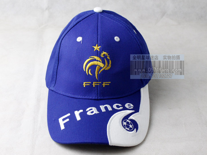 Football Team logo embroidery Sun hat France Baseball cap football hat  France national football team 2 colors available soccer-in Baseball Caps  from Apparel ... 0150eafea9c