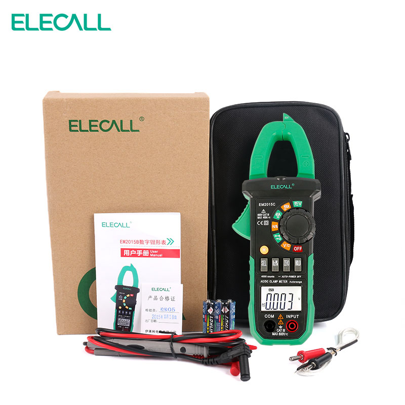 ELECALL EM2015A 26mm Jaw Capacity Easy To Separate The Wire NCV Digital Clamp Meter With Torch Diode Resistance Measurement jaw heffernan heffernan writing – a college handbook 3ed