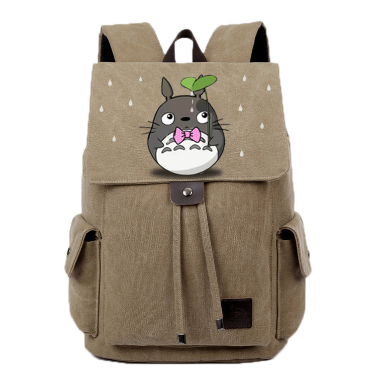 Anime Tonari no Totoro Cosplay Student bag college wind shoulder bag men and women backpack graffiti canvas bag anime death note cosplay anime backpack male and female student bag travel backpack