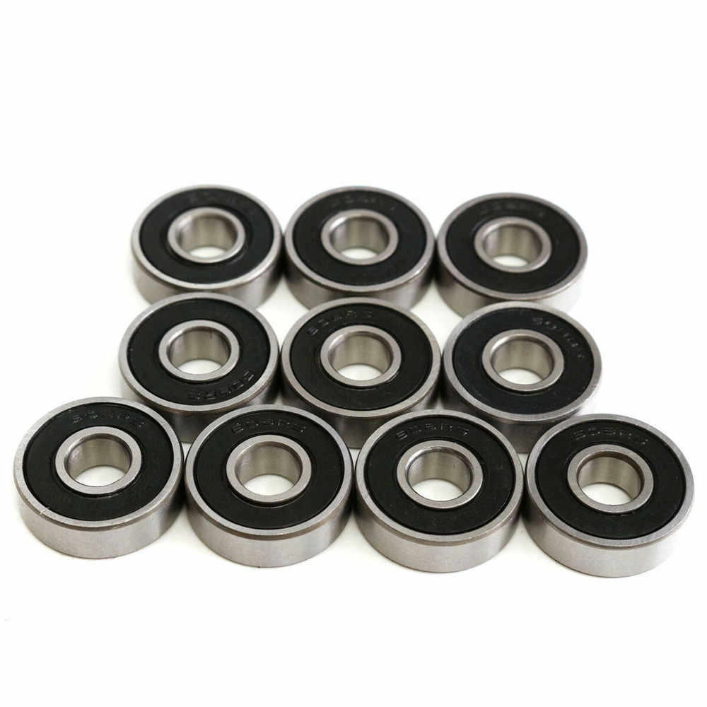 10 pcs 608 2rs lager 8x22x7mm Diepe Groef Staal Kogellagers 608RS Z3V3 608-2RS 608rs Lager lager 8*22*7 608 size