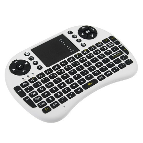 Calvas Haweel 2.4GHz Wireless Air Mouse Remote Control QWERTY Keyboard with Colorful Backlight Touchpad for PC Laptop Smart TV Box