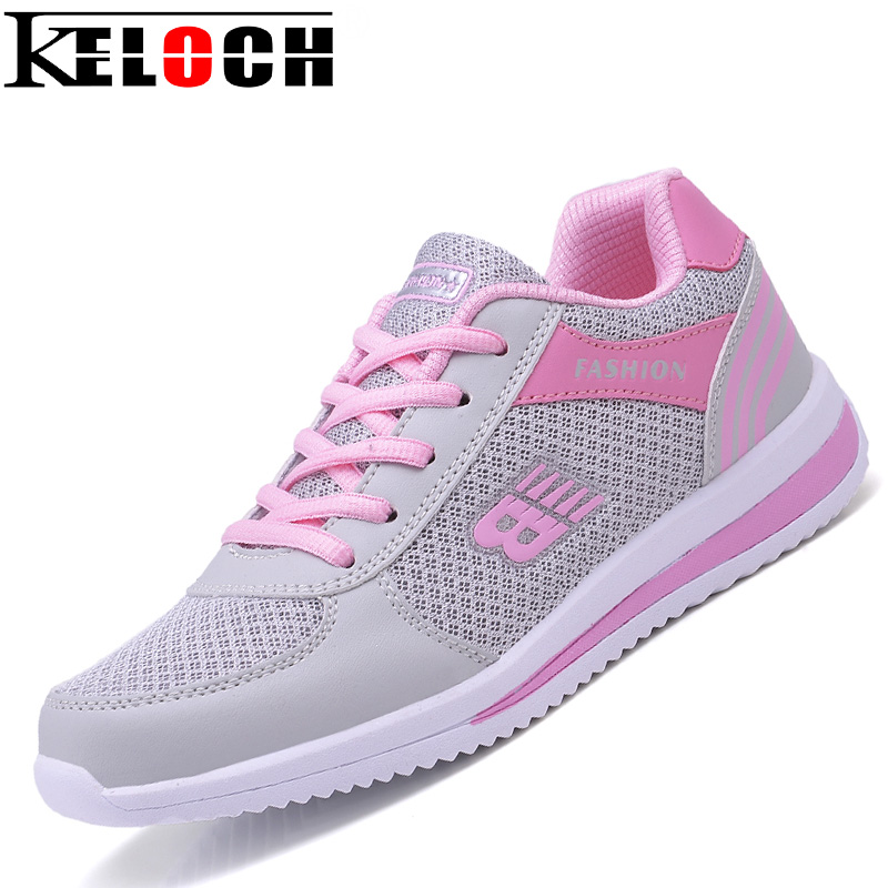 Keloch 2017 Outdoor Walking Shoes Women Breathable Training Shoes Mesh Running Shoes Sports Sneakers For Women