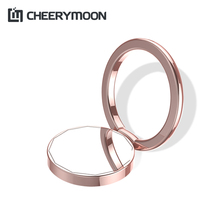 CHEERYMOON Duod & Mirror Series Holder Universal Mobile Phone Ring Stand Metal Finger Grip For iPhone Samsung Xiaomi Bracket