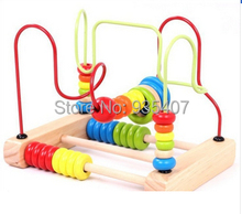 Factory outlets around the large wooden beads beaded baby educational toys childrens
