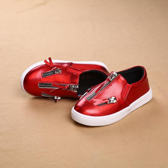 new arrival children shoes boys girls single shoes soft casual shoes leather kids shoes flat loafers