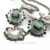 Chic Nueva Venta Caliente de La Manera de La Vendimia de Regalo de Diseño Unique Joyería Del Partido Verde y Azul Piedra Configuración Elegante Retro Collares