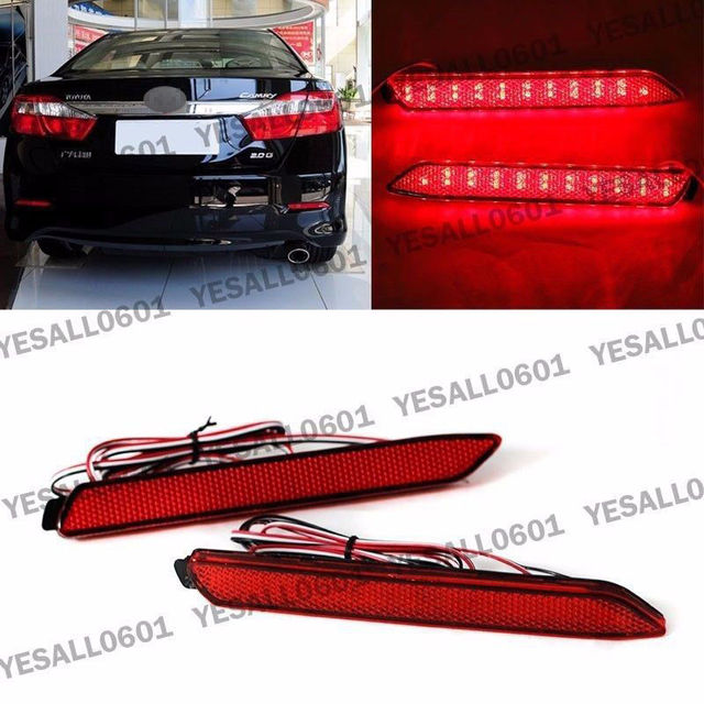 Cyan Soil Bay 2pcs Led Rear Per Reflector Brake Light For Toyota Camry Reiz Matrix Venza Lexus Is F 2008 2017 Gx470 Rx300