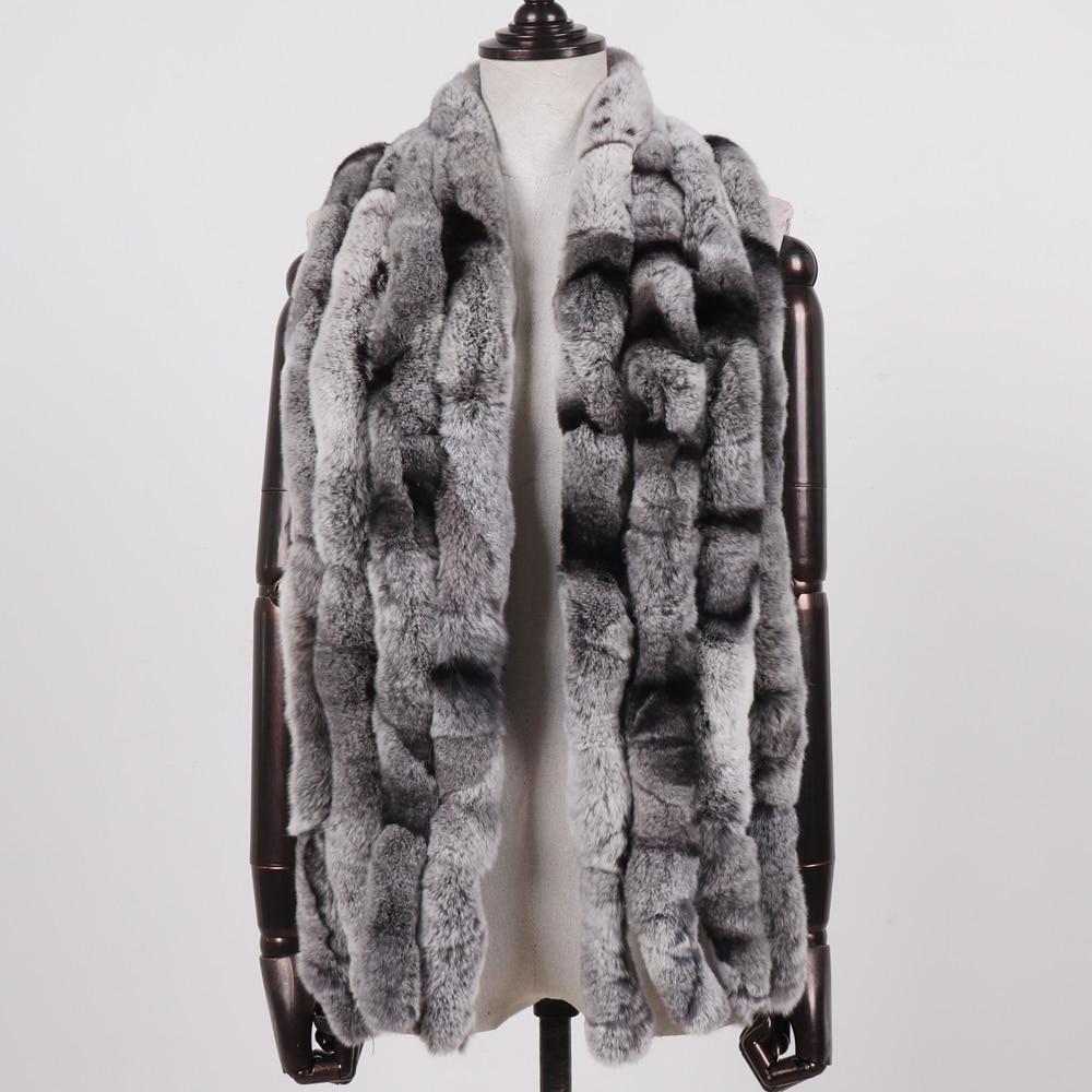 Image 3 - 2019 Women Winter 100% Genuine Real Rex Rabbit Fur Scarf Natural Soft Rex Rabbit Scarves Lady Warm Real Rex Rabbit Fur Muffler-in Women's Scarves from Apparel Accessories