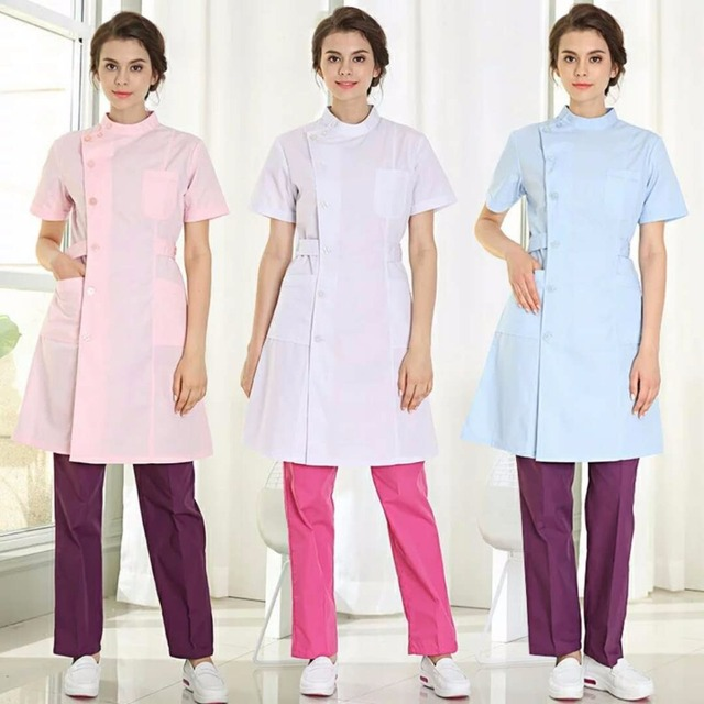 c1198cb7daed8 Hot Sale White Lab Coat Doctor Hospital Scientist School Fancy Dress Costume  for Students Adults Medical-ALX