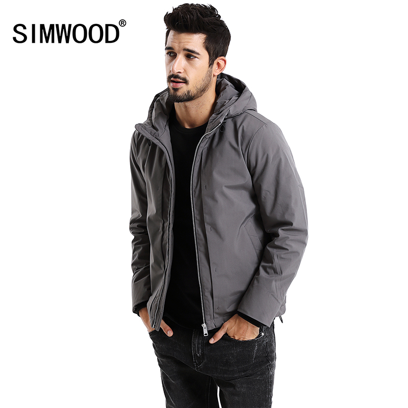 SIMWOOD New 2017 Winter Men Outerwear Plus Size Polyester Thick Fashion Jacket Men Casual Warm High Quality Brand Coats MD017002 free shipping winter parkas men jacket new 2017 thick warm loose brand original male plus size m 5xl coats 80hfx