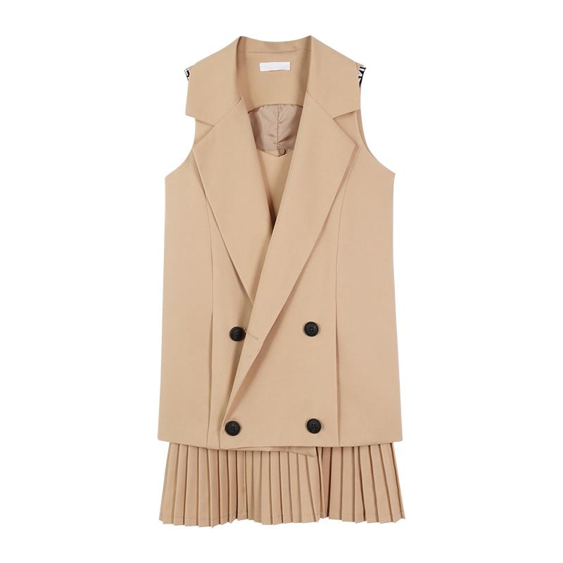 4XL Plus 2 Parça dəsti qadınlar üçün blazer və üzlü paltar - Qadın geyimi - Fotoqrafiya 1