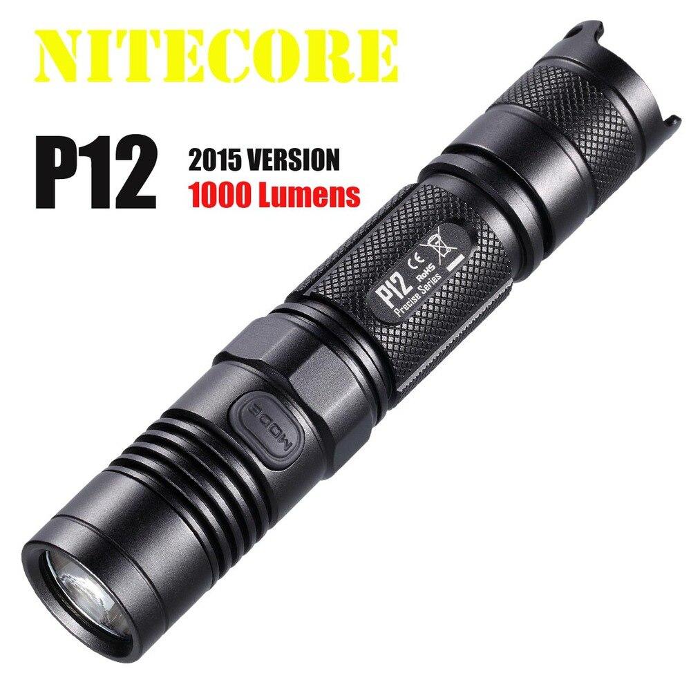 Nitecore P12 P12W Neutral White Light CREE XM-L2 T6 LED 950lums flashlight a11 cree xm l2 t6 led bicycle flashlight