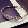 2017 new jewelry gold plated bracelet sweet cute simple geometric bracelets & bangles for women bijoux  all match