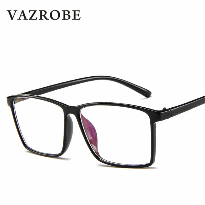 ae0026a665 Vazrobe 140mm Oversized Glasses Men Women Vintage Man Female Prescription  Spectacles Myopia Optical Anti Blue Light