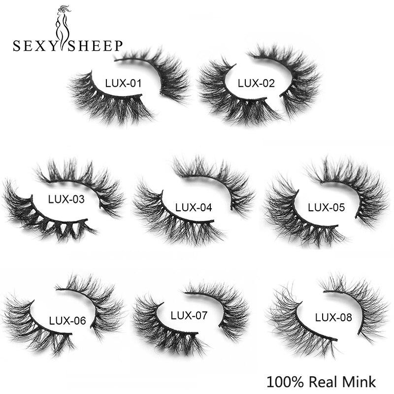 SEXYSHEEP Mink Lashes 3D Mink Eyelashes 100% Cruelty Free Lashes Handmade Reusable Natural Eyelashes Popular False Lashes Makeup