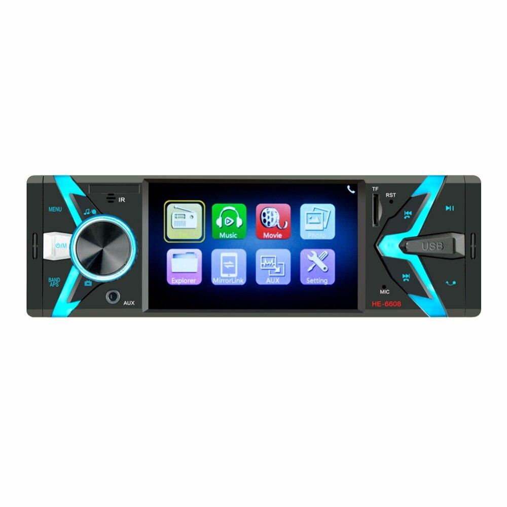 Fonwoon Autoradio 1 Din MP5 lecteur Auto stéréo Bluetooth SD USB AUX lien de rétroviseur Autoradio 4.1 pouces HD affichage caméra de recul