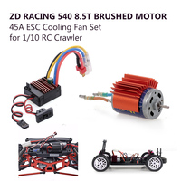 ZD Racing RC Motor Car Spare Parts 540 8.5T Brushed Motor with 45A ESC Cooling Fan Set for 1/10 RC Buggy Truggy Truck Crawler