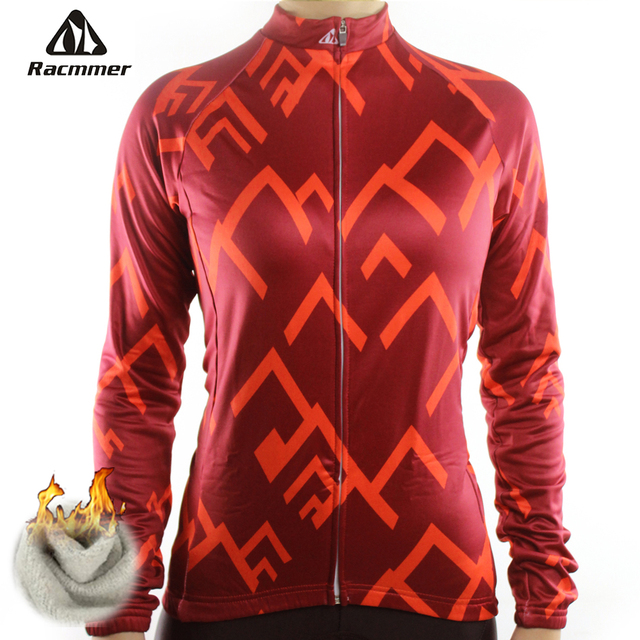 Racmmer Warm 2018 Pro Winter Thermal Fleece Cycling Jersey Ropa Ciclismo Mtb  Long Sleeve Women Bike 5f4f86b7c