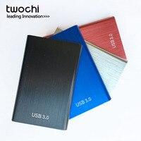 Twochi מתכת צבעוני HDD 2.5 ''160 GB 250 GB 320 GB 500 GB אחסון hd USB3.0 כונן קשיח החיצוני התקני דיסק קשיח