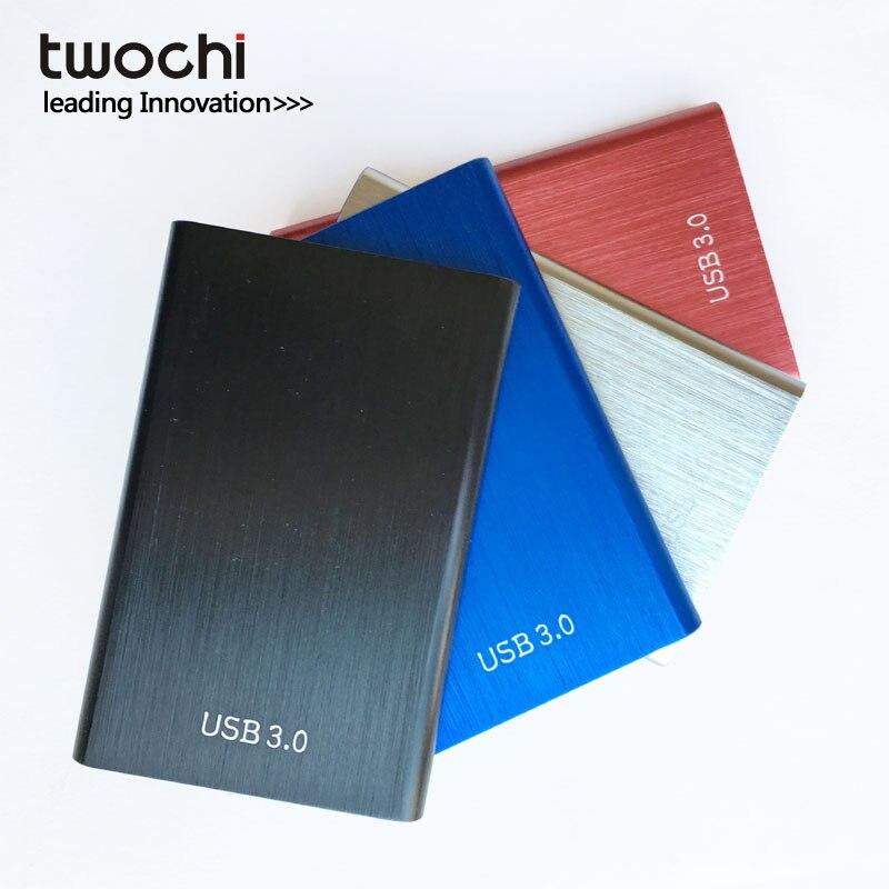 twochi Metal Colorful HDD 2.5'' 80GB 120GB 160GB 250GB 320GB 500GB external hard drive USB3.0 hd Storage Devices hard disk