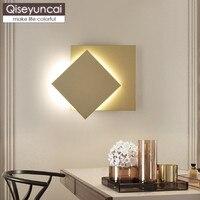 Lámpara de pared de TV LED creativo nórdico qiseuncai  pasillo de escaleras  lámpara de pared de dormitorio Simple ajustable