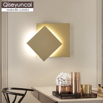 Qiseyuncai Nordic Creative LED Living room TV wall Wall lamp Stairs Aisle Adjustable Simple Bedroom Bedside Wall lamp