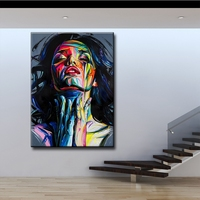 MYT Francoise Nielly Palette Knife Portrait Face Oil Painting Hand Painted Character Figure Canvas Wall Art Picture For Room
