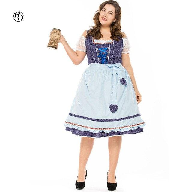 62a490e81a Women s Dress Dirndl German Beer Festival Clothing Promotion Service  Halloween Maid Bar Hostess Uniform Oktoberfest Costumes