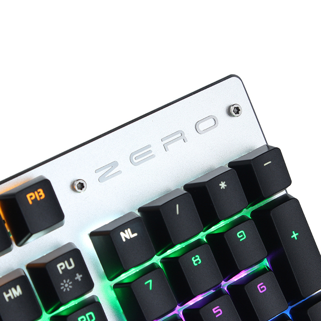 Metoo edition gaming Mechanical Keyboard 87/104 keys Anti-ghosting Luminous blue switch Backlit Wired keyboard English/Russian 3