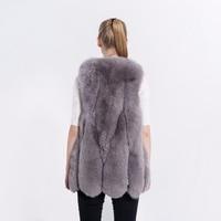 FURSARCAR 2020 New Fashion Women Fox Real Fur Waiscoat Winter Coat Sleeveless Jacket Natural Fur Autumn Genuine Long Fur Vest