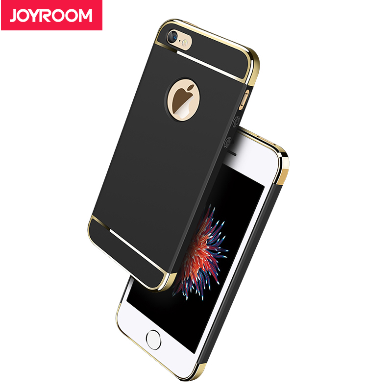 Joyroom Phone Case For iphone 5 5s SE Luxury 3 in 1 Hard Matte Case Plating Frame Back Cover Case For iphone 5S