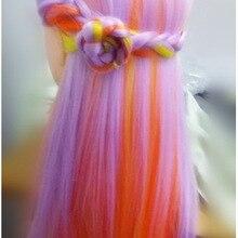 Красочные манекены головы прически волос Синтетические куклы Парикмахерские головы манекенов для косметологии женщин парикмахера