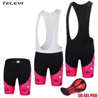 TELEYI 2017 Pink Lady Womens Bicycle Bib Shorts Quick Dry Maillot Women Cycling Bib Pants With