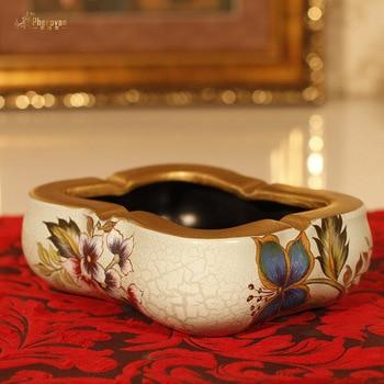 style retro ceramic ashtray ashtray painted pottery decorative gift crack Home Furnishing daily popularity promotion