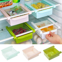 15x11.8x2.5cm Pull-out Drawer Organizer Fridge Storage Rack With Layer Partition Refrigerator Plastic Storage Holder(China)
