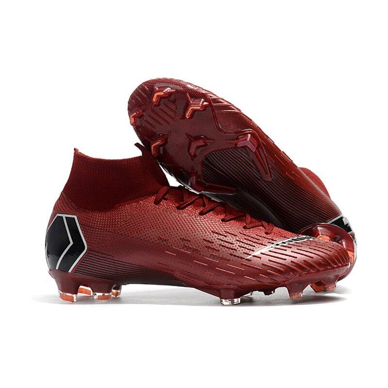 Новые взрослые мужские уличные футбольные бутсы высокие футбольные бутсы тренировочные спортивные кроссовки обувь Traing сапоги 38-46