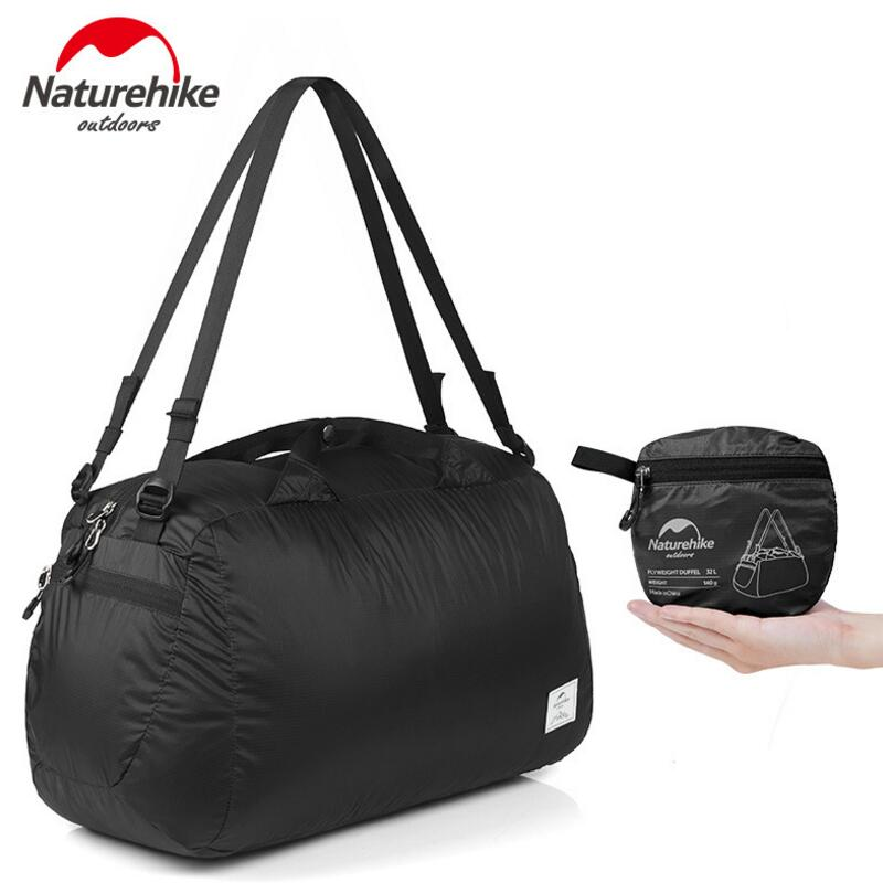 Naturehike Folding 20D Silicon Waterproof Bag Travel Bags Camping Unisex Ultralight Shoulder Bag 32L Outdoor Tourist Backpack