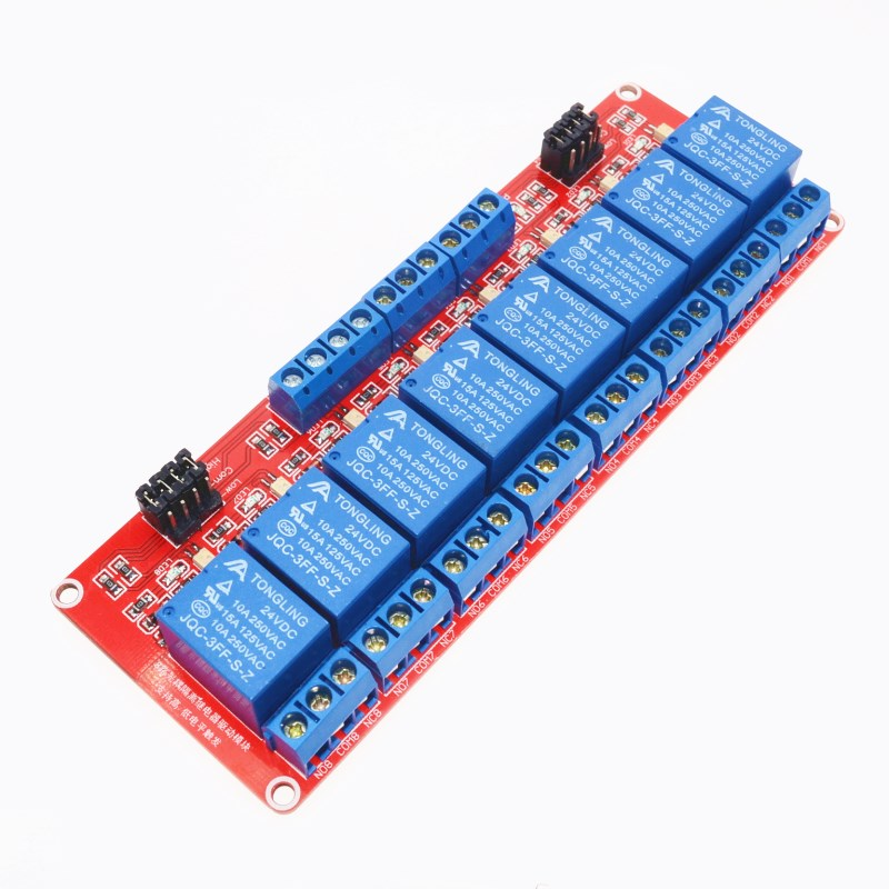 High/Low level trigger 8 channel relay control panel PLC relay 24V module for arduino hot sale in stock.8 road 24V Relay Module ...
