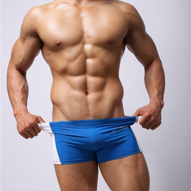 Boxer shorts gay underwear Mens Tight Trunks Boxer Shorts Splice Design Super Men soft Boxers Thin Breathable Male Underpants