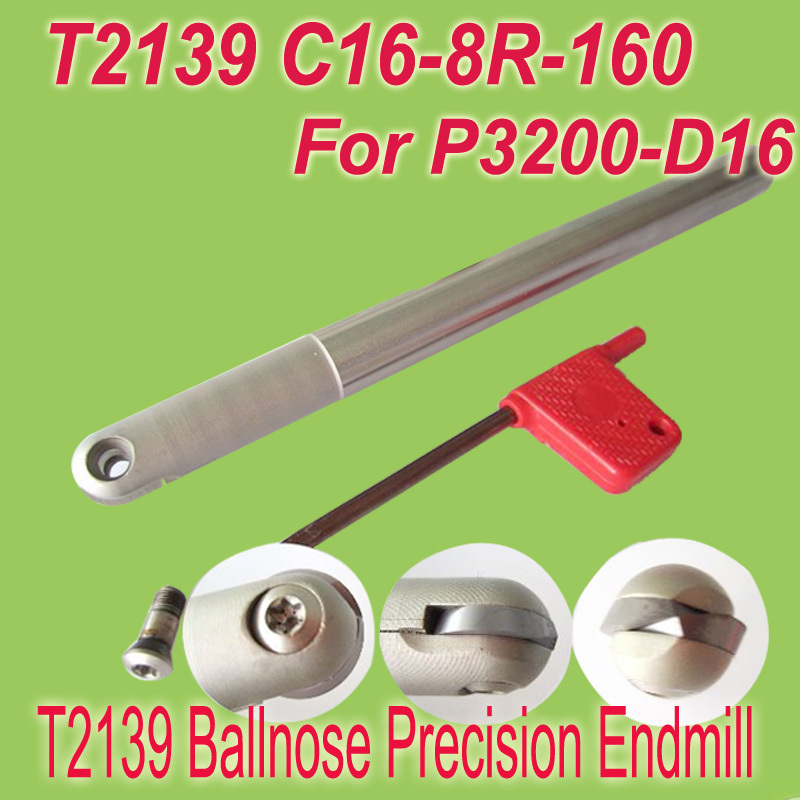 Free Shipping T2139 C16-8R-160 Copy End Fine Mill Precision Cutting Tools for P3200-16 free shipping t2139 c10 5r 130 insertable ball finish precision end mill cutting tools for walter p3200 10