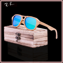 RTBOFY 2017 New Fashion Wood Sunglasses Polarized Handmade Ray Wooden Sun Glasses Brand Designer Eyeglasses For Men Women ZA88