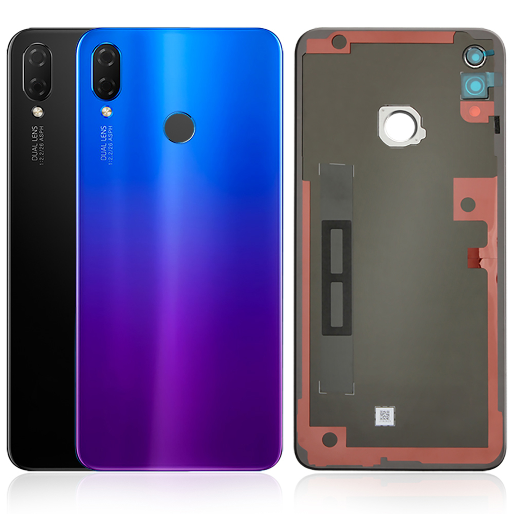 Original Huawei Nova 3i Back Housing Glass + Camera Glass Huawei P Smart+ Rear Battery Door Cover Replacement Repair Spare Parts(China)